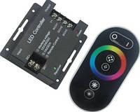 Радио RGB-Контроллер 24А-RF-6кнопок (черный сенсорный пульт)