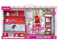 Кухня   с куклой Барби  и  мебелью