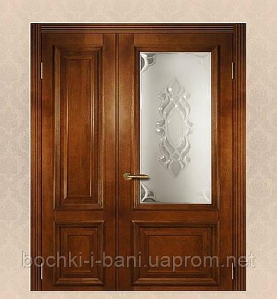 Двери двойные распашные из массива дуба, фото 2