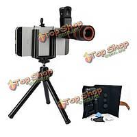 5в1 камеры объектив kit 8 x телескоп объектив2B2X телефото2Bwide угол2Bfisheye объектив2Bmacro объектив2BtriPod2Bclip