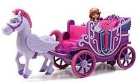 София прекрасная в королевской карете на пульте управления, Sofia Royal Carriage R/C Vehicle Оригинал из США