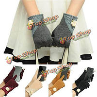 Перчатки сенсорные женские с кружевом