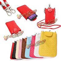 Универсальный PU кожа сотовый телефон сумка на плечо сумка кейс сумка с ремешком