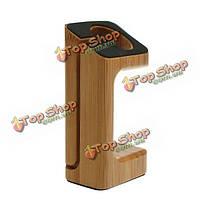 Натуральный орех деревянная зарядное устройство док станция платформа стенд держатель крепление для часы AppleWatch