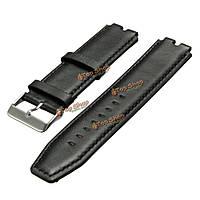 Черный натуральная кожа наручные часы ремешок группа ремешок для каменистого стали 2 умные часы