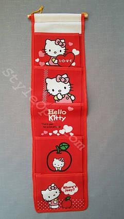 Органайзер для мелочей, Hello Kitty, 5 секций, красный, фото 2
