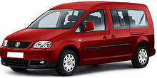 Защита заднего бампера на Volkswagen Caddy (2004-2017)