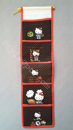 Органайзер для мелочей, Hello Kitty, 5 секций, чёрный, фото 2