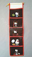 Органайзер для мелочей, Hello Kitty, 5 секций, чёрный