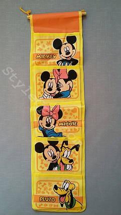 Органайзер для мелочей, Микки Маус, 5 секций, жёлтый, фото 2