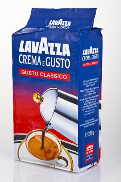 Кофе молотый из Италии Lavazza Crema e Gusto Classico 250г
