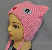 """Детские шапки осень зима """"Лунтик"""" для девочек."""