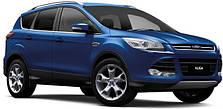 Защита заднего бампера на Ford Kuga (c 2008--)