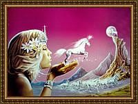 Картина в багетной раме Фея 200х240мм №500