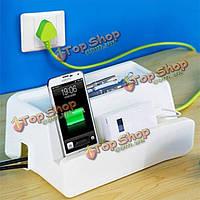 Письменный стол кабель питания розетка коробки мобильного телефона зарядки кронштейн управления хранением данных кабельного провода