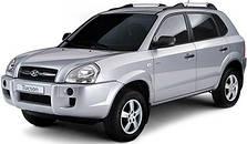 Защита заднего бампера на Hyundai Tucson (c 2004--)