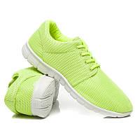 Женские кроссовки салатовые для фитнеса (беговые)