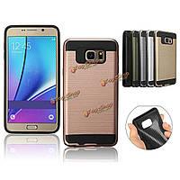 2в1матового защита TPU + защитный чехол для ПК Samsung Galaxy Note 5