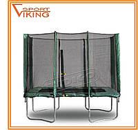 Батут детский прямоугольный KIDIGO 215х150 см с защитной сеткой