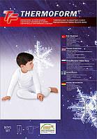 Детское термобелье для мальчика (белого цвета)