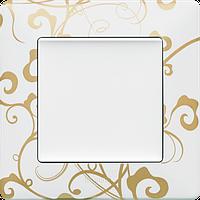 Рамка 1 пост. Ампир белый, Legrand Valena 754101