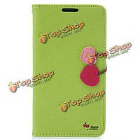 Вишневый Flip PU кожа бумажник чехол для Samsung Note 3 n9000