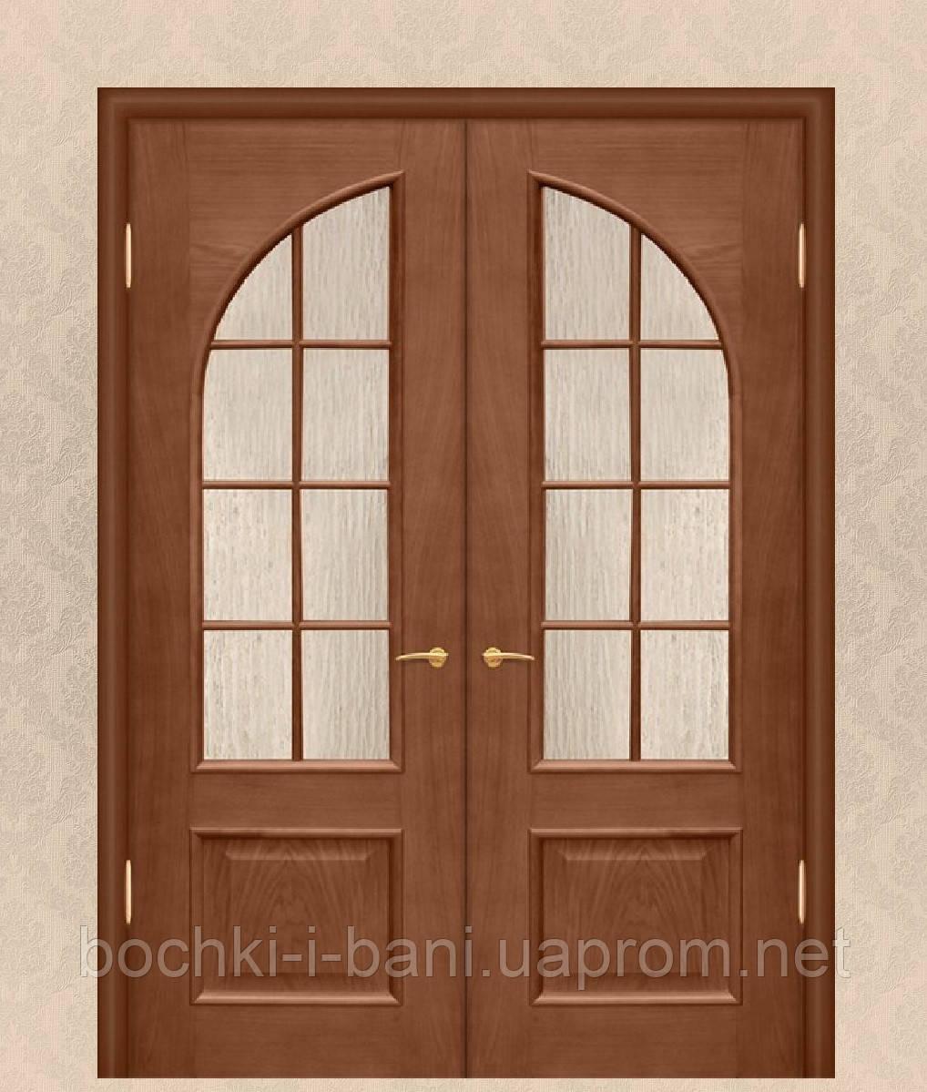 Двери двойные межкомнатные из массива ольхи