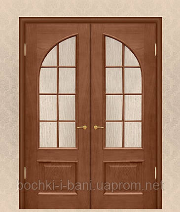 Двери двойные межкомнатные из массива дуба, фото 2