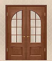 Двери двойные межкомнатные из массива дуба