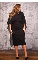 Женское Платье Мелодия черное(48-72)