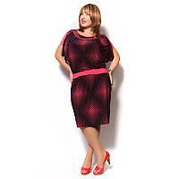 Платье женское в горошек из микромасла ниже колена.