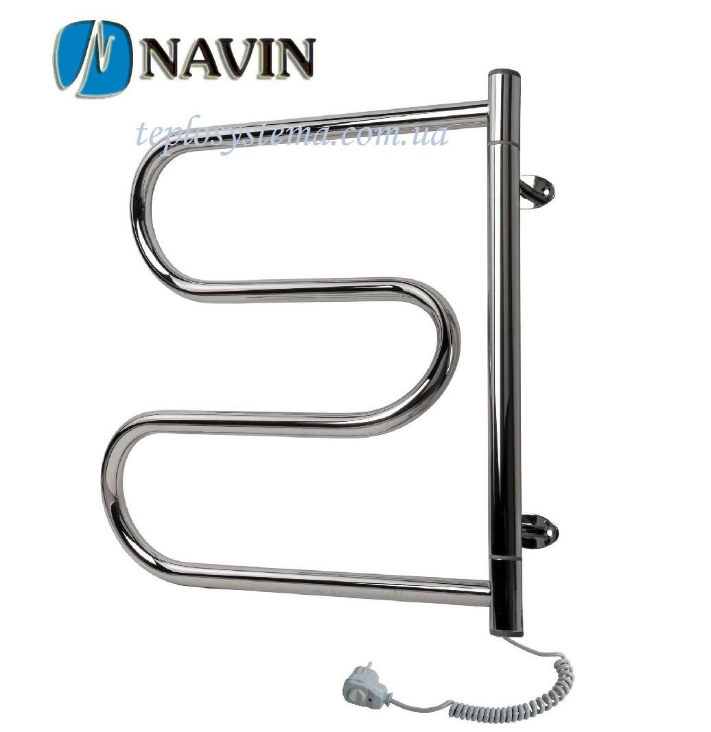 Полотенцесушитель электрический NAVIN Змеевик поворотный 500 х 600 (левое подключение)