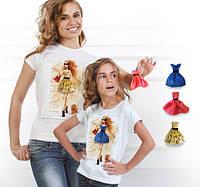 """Комплект 2 футболки и 6 сменных платьев """"Family Look Walk"""""""