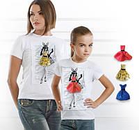 """Комплект 2 футболки и 6 сменных платьев """"Family Look Selfie"""""""