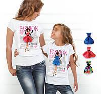 """Комплект 2 футболки и 6 сменных платьев """"Family Look Magazine"""""""