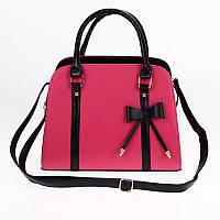 Женская кожаная сумка с короткими ручками. Сумка с бантиком. Отличное  качество, фото 1