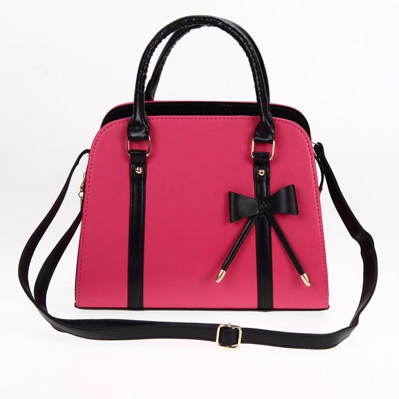 Женская кожаная сумка с короткими ручками. Сумка с бантиком. Отличное  качество
