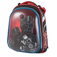 Рюкзак школьный ортопедический каркасный для мальчика Class Techno Чехия 9632