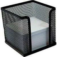 Куб под бумаги для заметок , металлический 10*10*10 см,черный