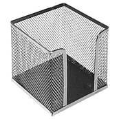 Куб под бумаги для заметок , металлический 10*10*10 см,серебряный