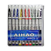 Набор цветных гелевых ручек Aihao 801, 10 цветов
