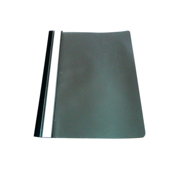 Папка-скоросшиватель с прозрачным верхом А4, черная