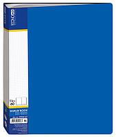 Папка пластикова с 60 файлами Economix, синяя
