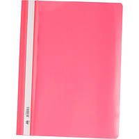 Папка-скоросшиватель А4, розовая