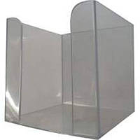 Подставка куб настольная для бумаги 90*90*90, дымчатая