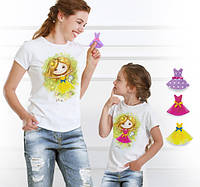 """Комплект 2 футболки и 6 сменных платьев """"Family Look  Top Fairy"""", фото 1"""