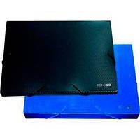 Папка-бокс пластиковая Economix А4 60мм на резинках, синяя E31405