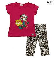 Летний костюм для девочки. 1-2;  3-4;  5-6 лет