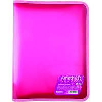 Папка на змейке А4 amethyst, розовый