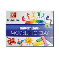 Пластилин Луч Классика, 18 цветов, 540255